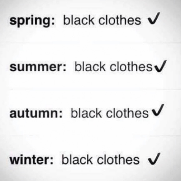 Other - Everything goes with black!